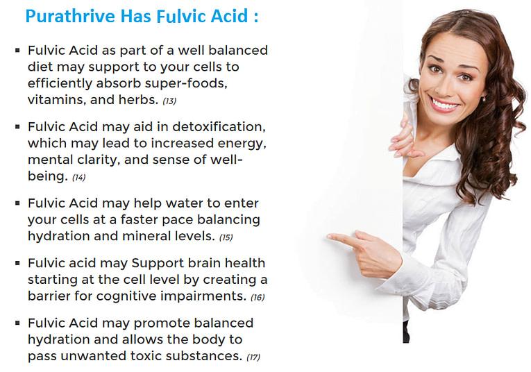 fulvic acid in purathrive
