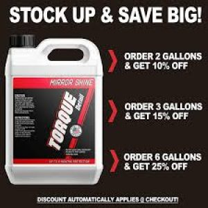 10% off on first purchase of Torque detail products - site wide