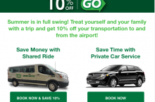 10% Off GO Airport Shuttle Coupon & Discount code